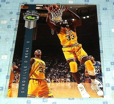 Shaquille O'Neal 1992 Four Sport Classic Collection Members Not Relisting