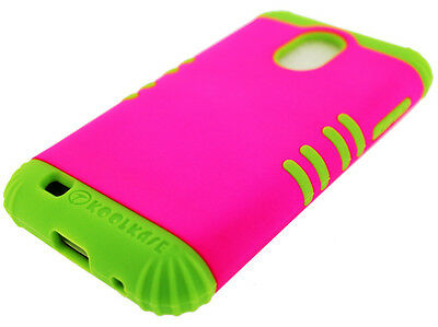 Green Silicone+Hot Pink Cover Case Snap For Samsung Galaxy S2 Epic 4G Touch D710