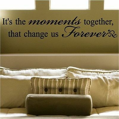 "DIY Home Decor'Moment Together""Mural Removable Decal Room Wall Sticker Vinyl Art"