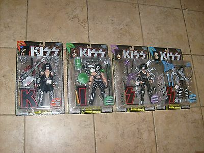 KISS McFarlane Figure Dolls Complete Set Of 4 w/ Letters Simmons Stanley NEW MOC