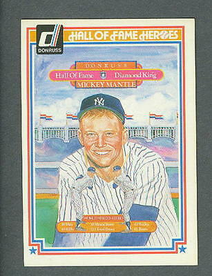 Mickey Mantle 1983 Donruss Hall of Fame Card #43