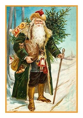 New Victorian Father Christmas Santa Claus  #130 Counted Cross Stitch Chart