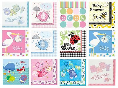 Baby Shower 16 Luncheon Napkins (Boy/Girl/Party/Tableware/Decoration) (2ply)