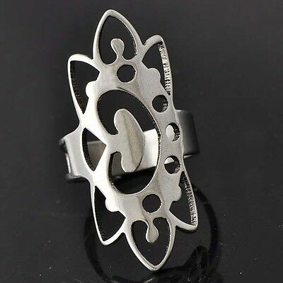 Impressive Womens White Stainless Steel Ring Size 8.5# D4425