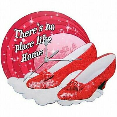 "The Wizard of Oz Ruby Slippers Quote 11.25"" Cordless Wall Clock, NEW SEALED"