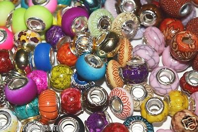 24qty Assorted mix lot metal BEADS 10-15mm for 12 ladder necklace w/large hole