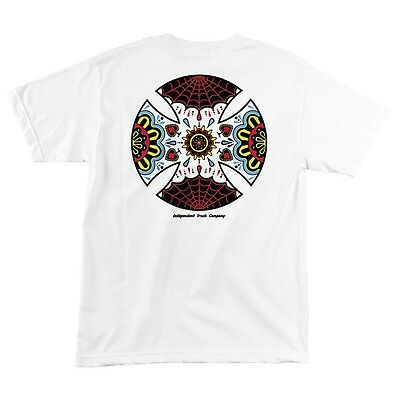 Independent Trucks BLOOD AND SWEAT Skateboard T Shirt WHITE LARGE