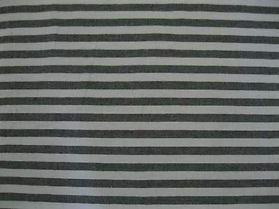 "4 1/2 YARDS OF BLACK & WHITE 1/2 "" STRIPE MATERIAL #0036"