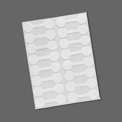 16 White Mylar 9/16 inch Round Shark-Skin Jewelry Adhesive Sticker Label Tags