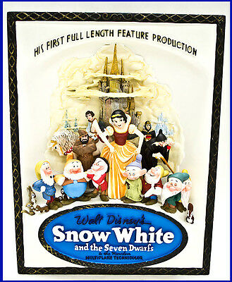 Disney Showcase Collection Snow White and Seven Dwarfs Sculpted 3D Movie Poster