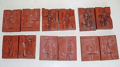 Lead Toy Soldier Rubber Molds, Napoleonic and Colonial Soldiers, Set of 6