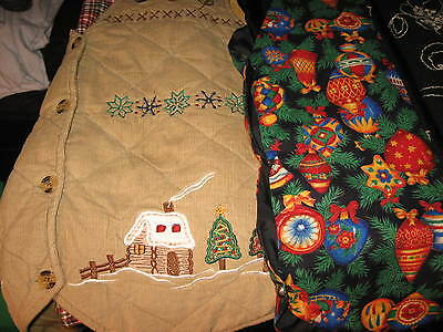 WOMENS SZ. MEDIUM & LARGE LOT OF 3 CHRISTMAS VEST'S 1 WITH WOOL + 2 COTTON ONES