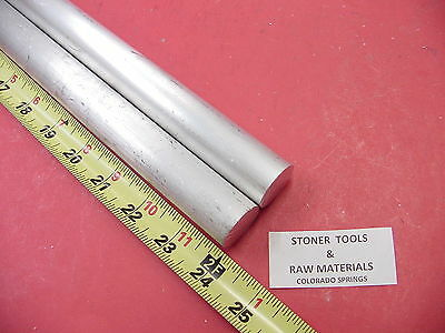 "2 Pieces 1"" ALUMINUM 6061 ROUND ROD 24"" long T6511 1.00"" Solid Bar Lathe Stock"
