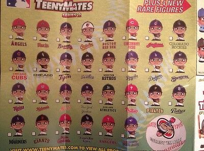 Pick Ur Favorite Team Figure 2015 Mlb Baseball Teenymates Series 2 Pitchers