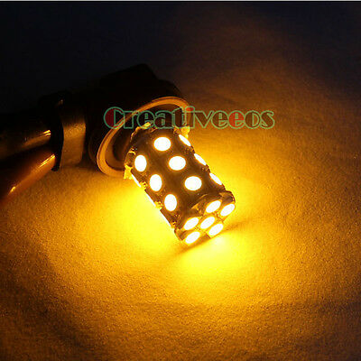 2x H11 5050 SMD 12V Car LED Fog Light Driving Bulb Foglight Lamp Amber Yellow