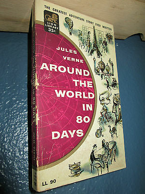 AROUND THE WORLD IN 80 DAYS by Jules Verne (1956) VINTAGE PAPERBACK