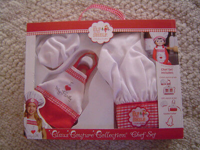 Elf on the Shelf  Claus Couture Collection Chef Apron Set w/Cookie Cutter