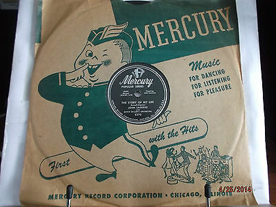 "Mercury 10"" 78/John Laurenz/The Story Of My Life/When Is Sometime/VG+/E!!!"