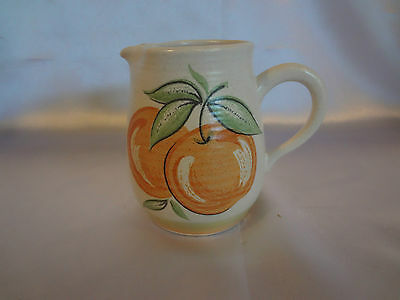 "Franciscan ""Fruit"" (Large Design) - Creamer (Peach Design)"
