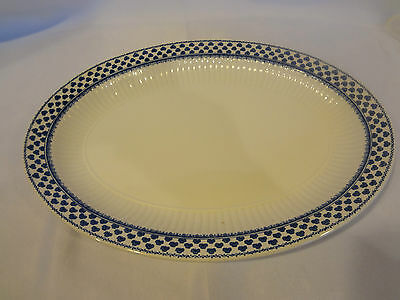 "Adams English China - Blue/White Brentwood - 14"" Oval Serving Platter"