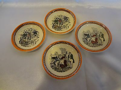 Adams English China - Scenes from Dickens - Set of 4 Butter Pats