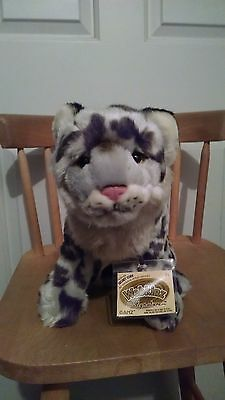 """Webkinz Signature Snow Leopard """"new""""  attached sealed code - great piece"""