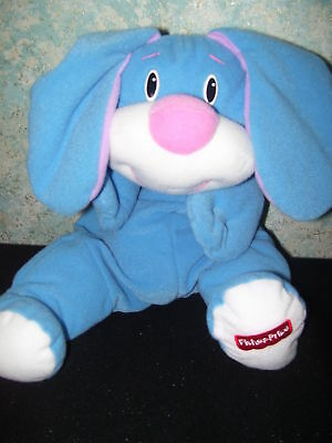 Fisher Price Floppy BLUE RUMPLE Bunny Puppy Dog RARE VG