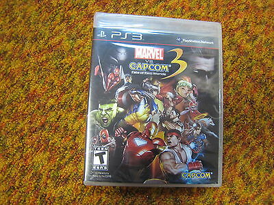 Marvel Vs. Capcom 3: Fate of Two Worlds Brand NEW PS3.