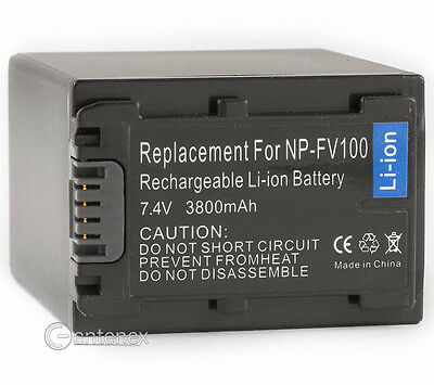 Battery for Sony NP-FV100 NP-FH100 NP-FP90 Handycam HDR-XR550 DCR-DVD610 HDR-HC3
