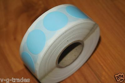 "1000 BLUE Self-Adhesive Price Labels 3/4"" Stickers / Tags Retail Store Supplies"