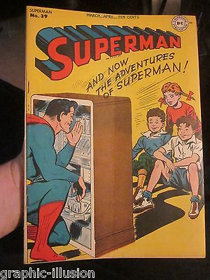 Superman #39 Golden Age comic book DC Comics 1946