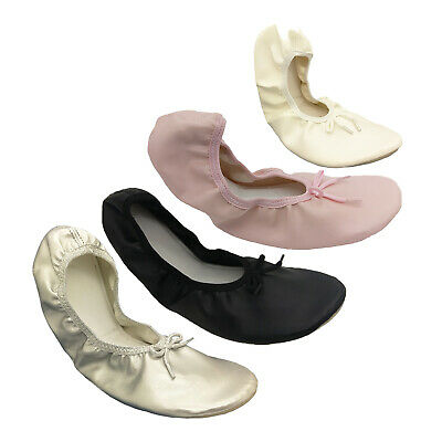 Ladies Shoes Genuine Jiffies Black Pink Gold or White Ballet Flats Size 5-10 New