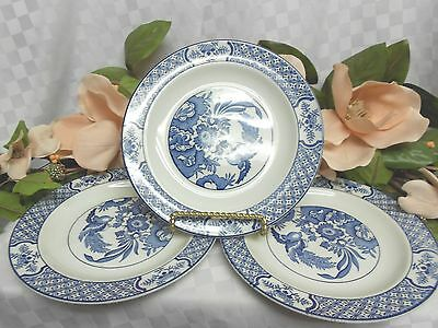 Woods & Sons, Enoch, Yuan-Blue & White Older Smooth Edge 3 salad plate