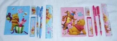 2 Disney Winnie the Pooh Stationery Pencil Notebook Set Party School Gift Supply
