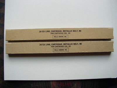 2  Boxes Total of 40 M1 3006 .30 cal Metallic Links NEW