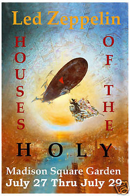 Led Zeppelin * Houses of the Holy *  Madison Square Garden Concert Poster 1973