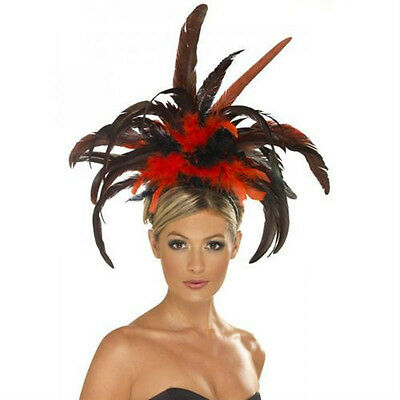 Showgirl Burlesque Feather Headdress Moulin Rouge Samba Costume Headpiece