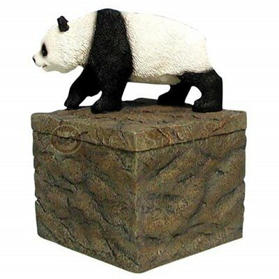 5 Inch Walking Panda Bear on Rock Box Collectible Candle Holder