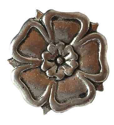 House of York Yorkshire Rose Hand Made Pewter Pin Badge