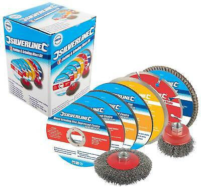 Tile Stone Metal Cutting & Grinding Discs Kit for 115mm Angle Grinder Diamond