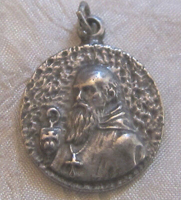 Vintage Catholic Religious Holy Medal - Saint Benedict - NICE / UNIQUE