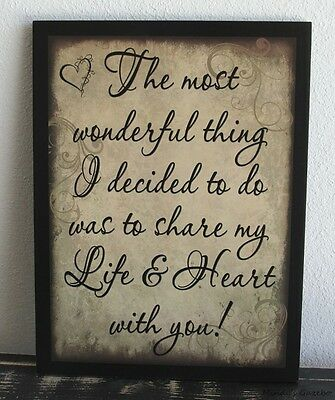 LOVE SHARE MY LIFE WITH YOU Primitive Wood sign Country Rustic Home wall Decor