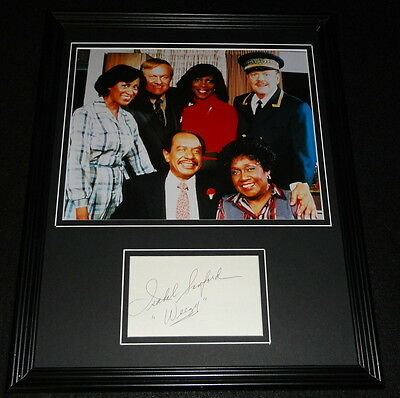 Isabel Sanford Signed Framed 11x14 Photo Display The Jeffersons Weezy Inscript