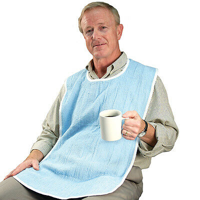 NEW Adult Sized Washable Bibs - Extra Large Clothing Spill Protector (Pack of 3)