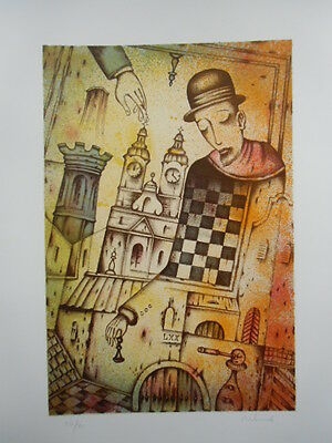 Ex libris Exlibris 2014 Free Graphic Chess Town II by IVANOV EUGENI /rus