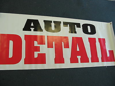 AUTO DETAIL Banner Sign NEW Larger Size for Car Hand Wash