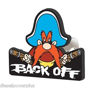 yosemite sam back off looney tunes plug cover hider receiver emblem Hitch insert