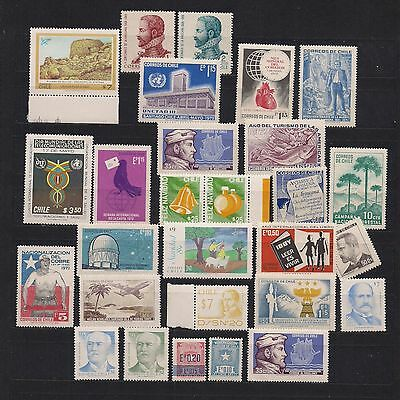 CHILE:  small lot of stamps [4]  -- MNH --