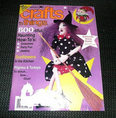 Crafts n Things Magazine Oct 1993  Costumes & Turkeys & more *see sample pages