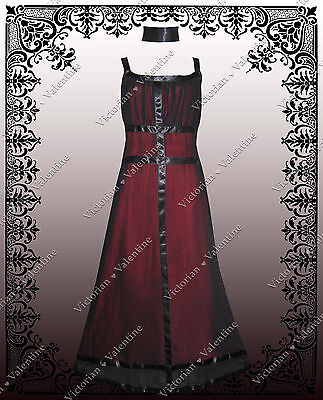 Steampunk Victorian Regency Valentines Day 1920's Gatsby Gothic Vintage Dress S
